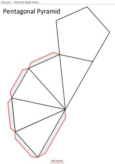 piramide pentagonal para recortar K Crafts, Paper Crafts, 3d Shapes For Kids, Prisma Pentagonal, Diy Paper, Paper Art, Geometry Activities, Shape Templates, Little Presents