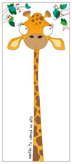 #jirafa #ilustracion de @carinagalliano mantén tu cabeza en lo alto