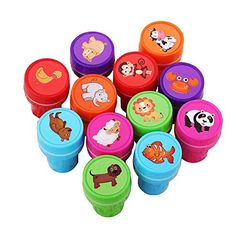 12PCS Cute Cartoon Animal Stamp Set by lanlan ** Check this awesome product by going to the link at the image.