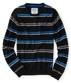 Striped Skate Crew Sweater
