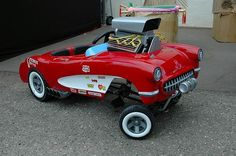 Corvette Gasser Pedal Car