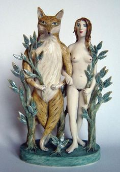 A ceramic sculpture by Eleanor Bartleman.  tell me who you walk with   http://www.eleanorbartleman.co.uk