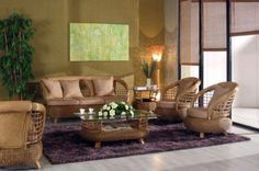 Tropical Look in Mediterranean Living Room Interior Design . Bamboo Furniture, Furniture Decor, Living Room Furniture, Outdoor Furniture Sets, Furniture Shopping, Interior Design Living Room, Interior Decorating, Room Interior, Decorating Ideas