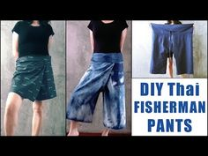 After making the wrap skirt, I was thinking about what other clothing I can make where I can  just tie it around my waist. The Thai Fisherman pants ! The ultimate one size fits all , roomy and comf…