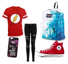 """School Friday!"" by nerdspapercrown on Polyvore featuring Miss Selfridge, Converse, Disney and JanSport"