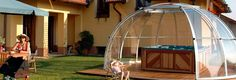 Hot Tub Enclosure Domes Gain Popularity  http://news.poolandspa.com/hot-tub-enclosure-domes-gain-popularity/