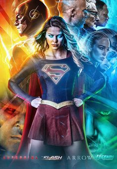 Poster of the CW's Arrowverse shows Melissa Supergirl, Supergirl Season, Supergirl Superman, Supergirl And Flash, Melissa Benoist, Batwoman, Batgirl, The Flash, Dc Comics Series