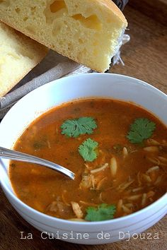 Chorba chicken easy with languages that bird Dory, Soups And Stews, Thai Red Curry, Food And Drink, Chicken, Cooking, Ethnic Recipes, Hui, Foodies