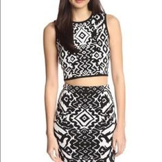Torn by Ronny Kobo cropped top Tribal print ronny kobo top. Brand new! Matching skirt also available. Torn by Ronny Kobo Tops