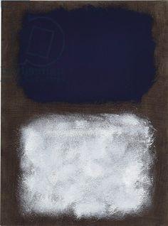 Black, White, Blue, c.1963 (acrylic on paper laid down on panel), Rothko, Mark (1903-70)