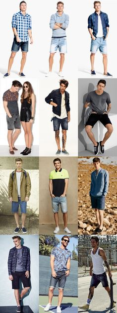 S denim shorts and footwear/shoes combinations outfit in Trendy Fashion, Mens Fashion, Fashion Outfits, Fashion Trends, Short Outfits, Summer Outfits, Denim Shorts Outfit Summer, Men Shorts, Indie Men