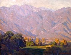 Edgar Payne Morning Light San Gabriel Oil painting