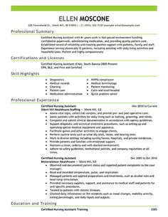 Certified Pharmacy Technician Resume Sample | Resume Examples: Certified Nursing Assistant