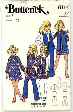 Vintage Butterick Pattern 6114  Children's by stillinvoguevintage, $6.00