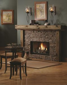 Reclaimed wood fireplace it would be easy to cover the ugly 27 stunning fireplace tile ideas for your home solutioingenieria Gallery