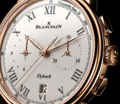 Blancpain Villeret Chronographe Pulsometre dial detail