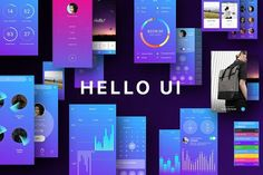 cool Hello UI Kit   CreativeWork247 - Fonts, Graphics, Themes, Templates...
