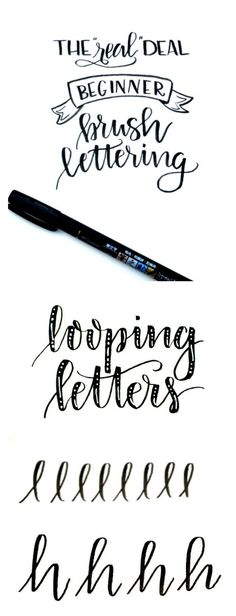 Beginner Brush Lettering: Looping Letters - One Artsy Mama
