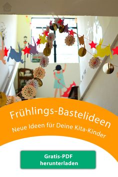 Free PDF Spring Ideas for the Kita - Kita Bastelideen Frühling - Kleinkind Diy And Crafts, Arts And Crafts, Paper Crafts, Bird Bulletin Boards, Diy For Kids, Crafts For Kids, Play To Learn, Mother And Child, Creative Kids