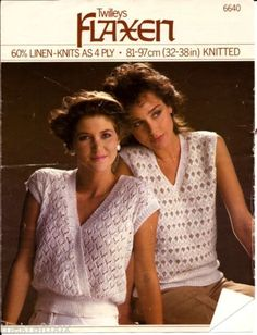 Twilleys-Flaxen-4-ply-Knitting-Pattern-Womans-Summer-Tops-P1327