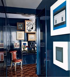 lacquered blue