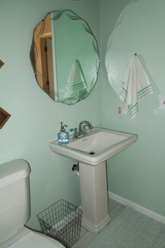 (photo from previous owners)   Hi everyone! It's been awhile, but today I wanted to share with you guys our bathroom makeover that we rece...
