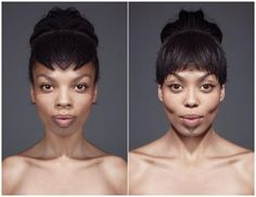 "Cool art project: ""The subject is shot face-to-camera portrait, with the image then split into a left and a right section, then one side is horizontally flipped. These images are recombined to create two separate and symmetrical identities of the subject.    ""There is a myth, some say a science, suggesting people who have more symmetrical faces are considered more 'attractive.' If you are made symmetrical, do you consider yourself more beautiful, less so, or is it just weird?"""