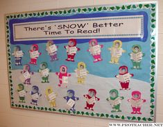 January: There's SNOW Better Time To Read Bulletin Board