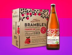 Bramble's Cider Designed by Curious Design