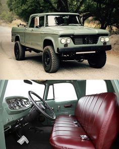 Icon is a Californian builder known for their custom jeeps and trucks, the latest gem to roll out of their workshop is this spectacular 1964 Power Wagon Crew Cab. more photos here Pickup Trucks, Old Dodge Trucks, Dodge Pickup, Jeep Truck, Lifted Trucks, E Motor, Offroader, Dodge Power Wagon, Classic Trucks