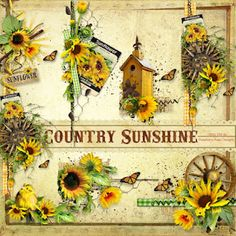 A set of sunflower themed side clusters designed to coordinate with the Country Sunshine collection.