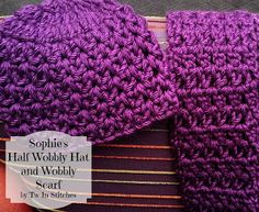 Tw-In Stitches: Sophie's Half Wobbly Hat and Scarf - Free Pattern ...