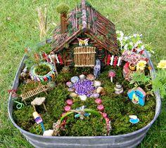 Fairy Garden Design Ideas For Summer 4 - Feenhaus Basteln Garden Large Fairy Garden, Fairy Garden Plants, Fairy Garden Houses, Gnome Garden, Fairy Gardening, Indoor Fairy Gardens, Miniature Fairy Gardens, Miniature Fairies, Small Gardens