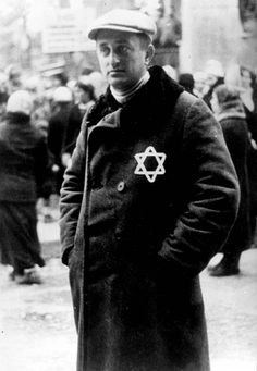 Russia 1941 - A Jewish man wearing the yellow badge in an area under German occupation.