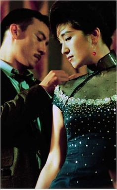"ancient to modern Chinese costumes and exotic fashion. Hanfu and qipao dresses for cosplay. Chang Chen & Gong Li in ""Eros"" by Wong Kar-Wai"