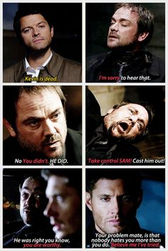 [gifset] Crowley cares about his boys...