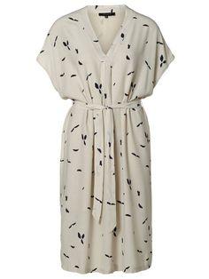 VISCOSE - SHORT SLEEVED DRESS, Rainy Day