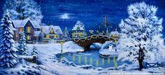 Backdrop CH018B Christmas Village 7B