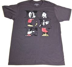 Disney Parks Mickey Mouse Shirt Gray Mens Large #DisneyResort #GraphicTee