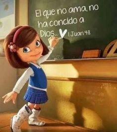 """#Dios es #Amor. """"El que no ama, no ha conocido a Dios."""""""