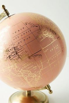 Beautiful rose gold globe, home inspiration and… Slide View: Decorative Globe. Beautiful rose gold globe, home inspiration and ideas.