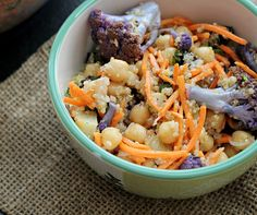 Moroccan Carrot and Chickpea Salad with Dried Plums, Quinoa, and Toasted Cumin Vinaigrette by eatswellwithothers #Salad #Carrot #Chickpea #Quinoa