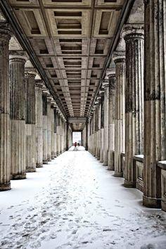 Wir meinten immer nur einander wenn wir Glück sagten <3 Museums In The Snow. Image by Paul Sullivan.