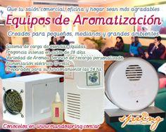 Aromatizadores para pequeños, medianos y grandes ambientes.