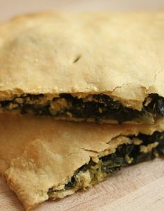 Mixed Greens Pie with Einkorn Crust..use any filling