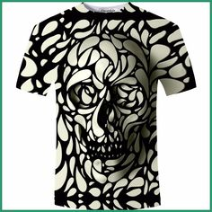 New Design Skull Print Men tshirt Fashion Skull T-Shirt Summer Short Sleeve Casual Breathable Tops Tee Plus Size Homme Skull Shirts, 3d T Shirts, T Shirts For Women, Painting & Drawing, Fashion Brand, Mens Fashion, 3d Fashion, Skull Fashion, Ladies Fashion