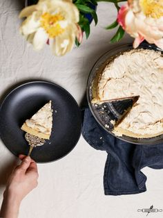 Glutenfreier Rhabarber – Baiserkuchen #rhabarberkuchen #rhabarber