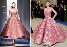 Miranda Kerr In Oscar de la Renta – 2017 Met Gala
