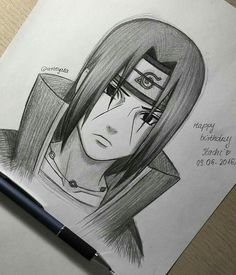 Made this quick sketch of Itachi becuase today's his birthday! Oh myy I miss him so much! Naruto Drawings, Sasuke Drawing, Naruto Sketch, Anime Drawings Sketches, Anime Sketch, Manga Drawing, Anime Naruto, Naruto Sasuke Sakura, Naruto Art