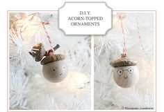 Acorn ornaments, http://www.petitpoulou.com/wp-content/uploads/2011/12/DIY-glands-creature-comforts3.jpg